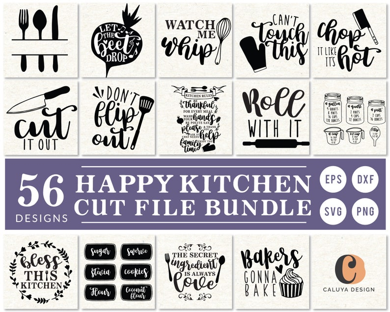Kitchen Quote & Label SVG Cut File Bundle  Kitchen Conversion image 0