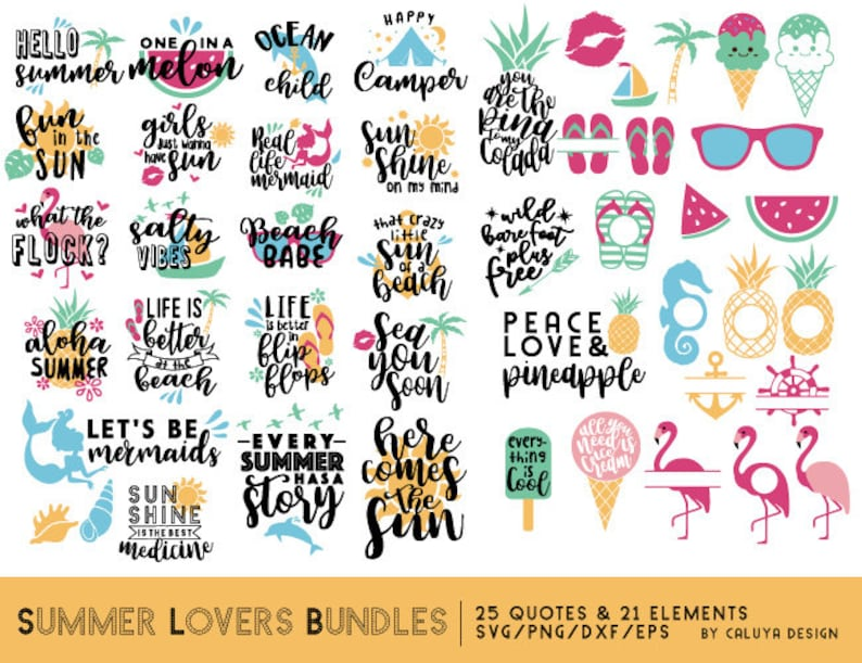 Summer Lovers SVG Cut File Bundle Deal  Cut File for Cricut & image 0