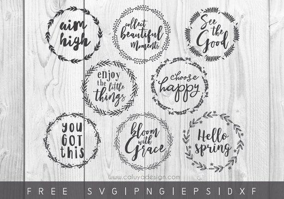 Free Svg Png Link Wreath Quote Cut File Svg Png Dxf Etsy