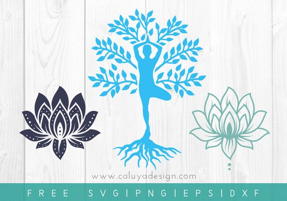 Free Svg Png Link Yoga Tree Of Life Cut Files Svg Png Etsy