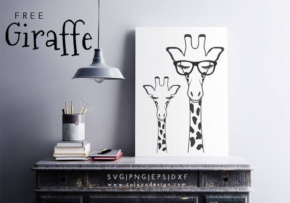 Free Svg Png Link Giraffe With Glasses Cut Files Svg Etsy