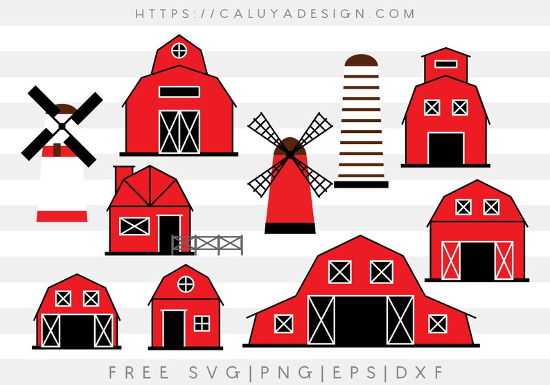 Free Svg Amp Png Link Barn Houses Cut Files Svg Png Dxf Etsy