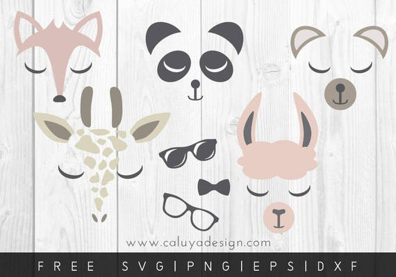 Free Svg Png Link Animal Faces Files Svg Png Dxf Eps Etsy