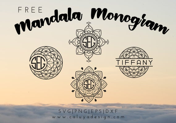 Free Svg Png Link Mandala Monogram Cut Files Svg Png Etsy
