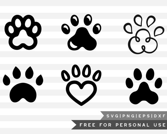 Free Svg Png Link Dog Paw Cut Files Svg Png Dxf Eps Etsy