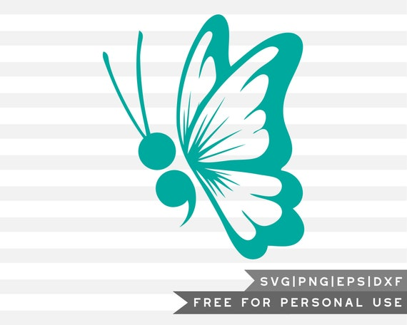 Free Svg Png Semi Colon Butterfly Cricut Cut Files Png Etsy