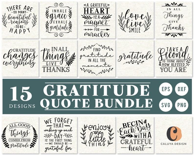 Gratitude Reminder Quote SVG Cut File Bundle Deal  Cut File image 0