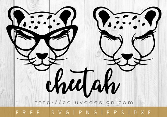 Free Svg Png Link Cheetah With Glasses Cut Files Svg Etsy