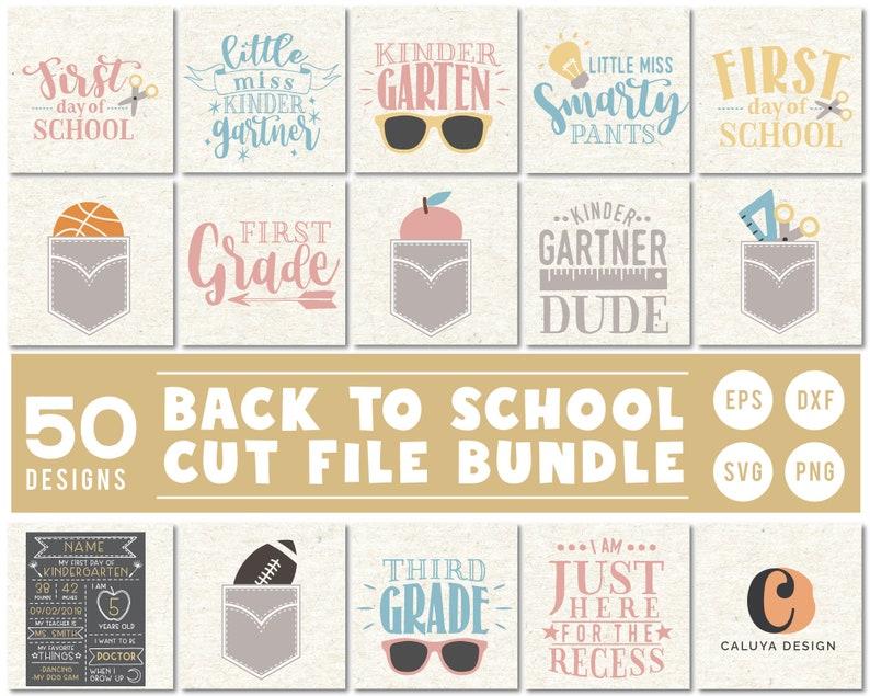 Back To School SVG Cut File Bundle Deal  Cut File for Cricut image 0
