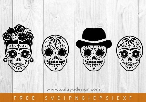 Free Svg Png Link Halloween Sugar Skull Cut Files Svg Etsy