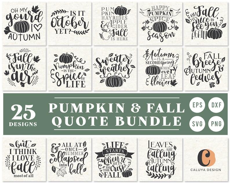 Fall Pumpkin SVG Cut File Bundle Deal  Cut File for Cricut & image 0