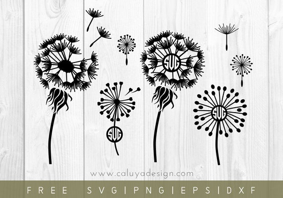 Free Svg Png Link Dandelion Monogram Cut Files Svg Png Etsy