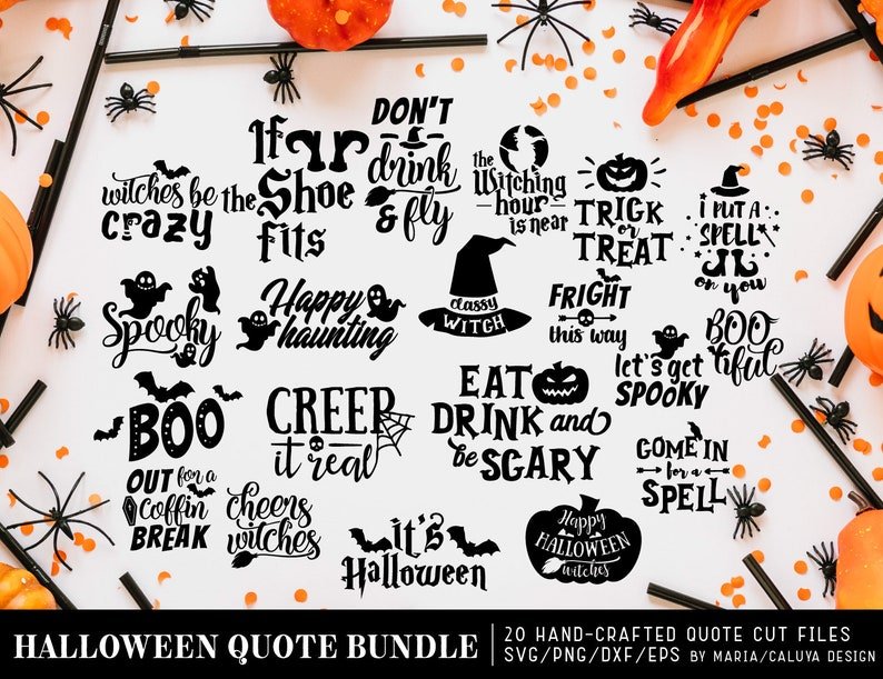 Halloween Quotes Svg.Halloween Quote Svg Cut File Bundle Deal Cut File For Cricut Cameo Silhouette Quote Dxf Cut File Halloween Skull Cut File Cricut