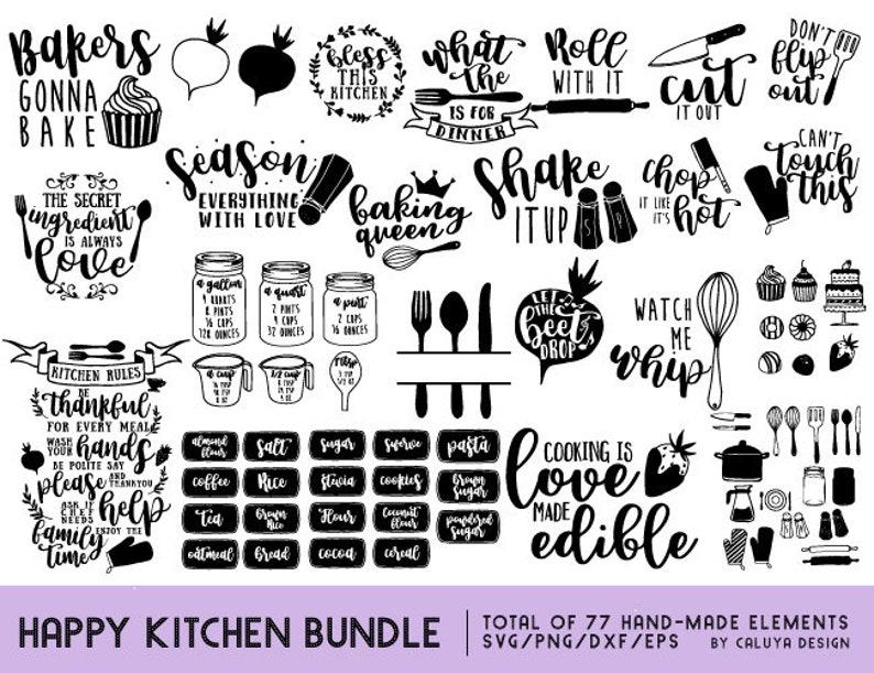 Happy Kitchen SVG Cut File Bundle Deal  Cut File for Cricut & image 0