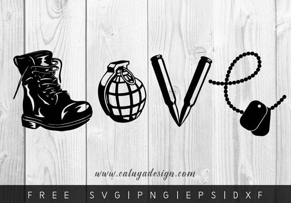 Free Svg Png Link Love Army Cut Files Svg Png Dxf Eps Etsy