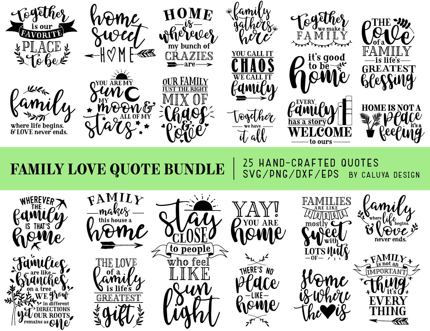 Family Love Quotes Svg Cut File Bundle Deal Cut File For Etsy