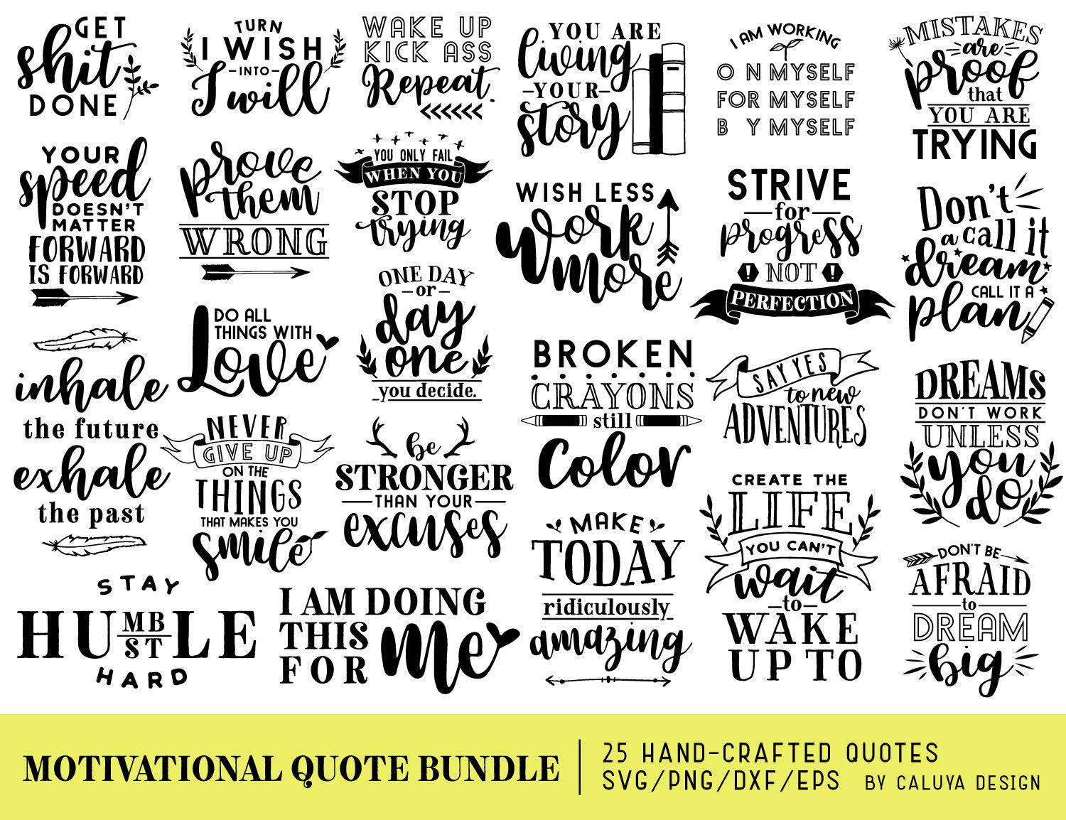 Your Mom Goes To College Quote: Motivational Quotes SVG Cut File Bundle Deal Cut File For