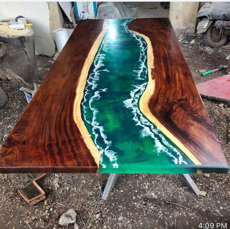 Ocean Epoxy Resin Table Top