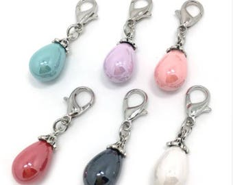 Pendant drops of water Pearl charms