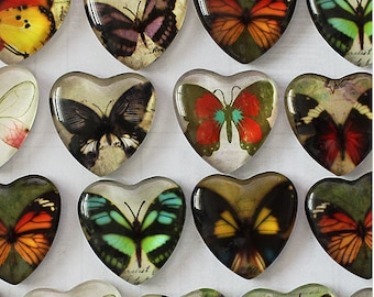 Set of 5 Butterfly Cabochons