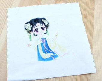 Japanese Patchwork fabric coupon