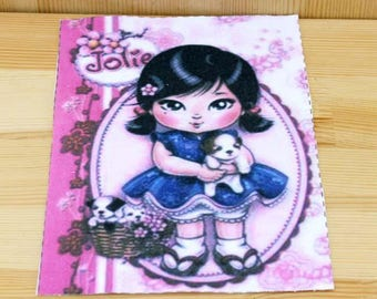 Chinese doll fabric coupon