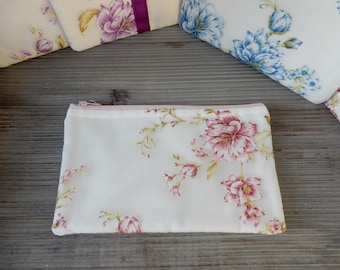 Soft Pouch, pink floral Multipurpose