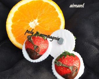Chocolate Strawberry on my fridge magnet