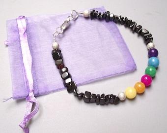 Bracelet dyed jade beads.