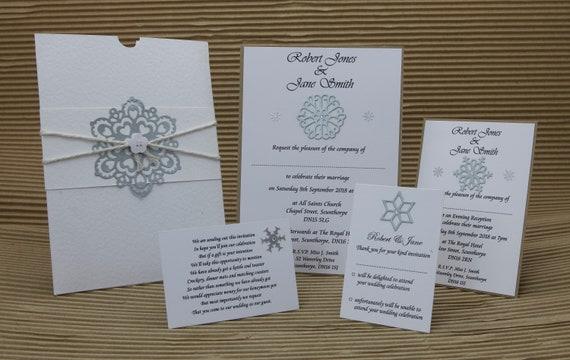 Winter Christmas Wedding Invitation Sample Bundle In A5 Etsy