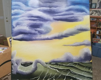 Seascape Fantasy 18x24 (Bob Ross Inspired)