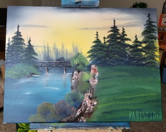 The Footbridge 18x24 (Bob Ross Inspired)