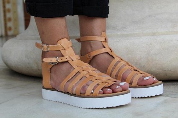 cuir sandales grecques grecques sandales femmes en sandales femmes gladiateur sandales antiques Sandales qgz5wnt0