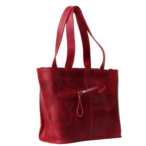 5f77ca06c8a8 Leather Tote Bag Womens Handbag Genuine Leather distressed