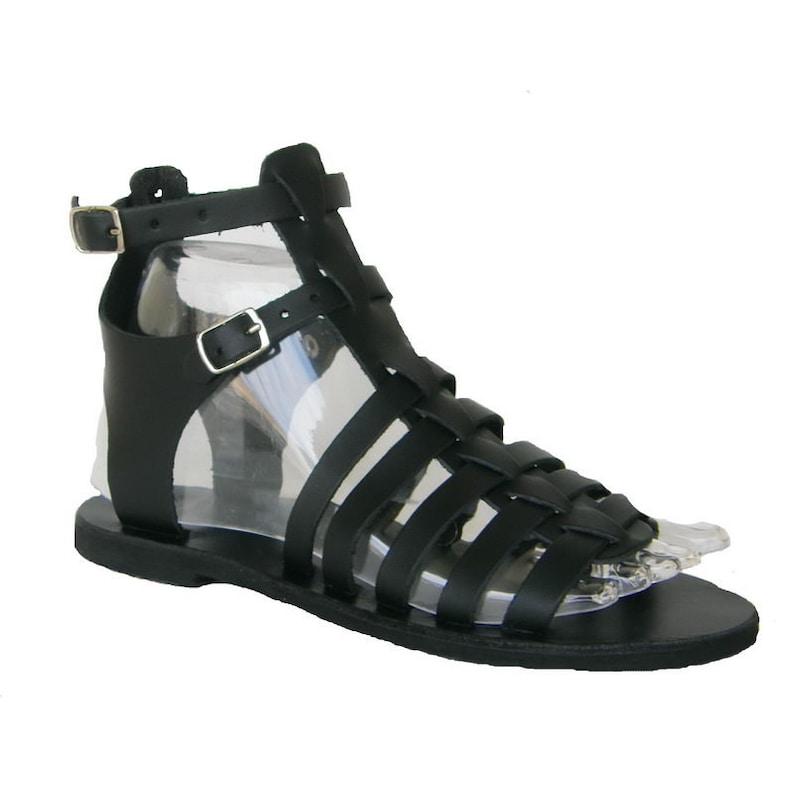 Gladiator sandals Ancient  sandals Greek leather sandals Black women Leather sandals Handmade Greek sandals Women sandals,Black sandals