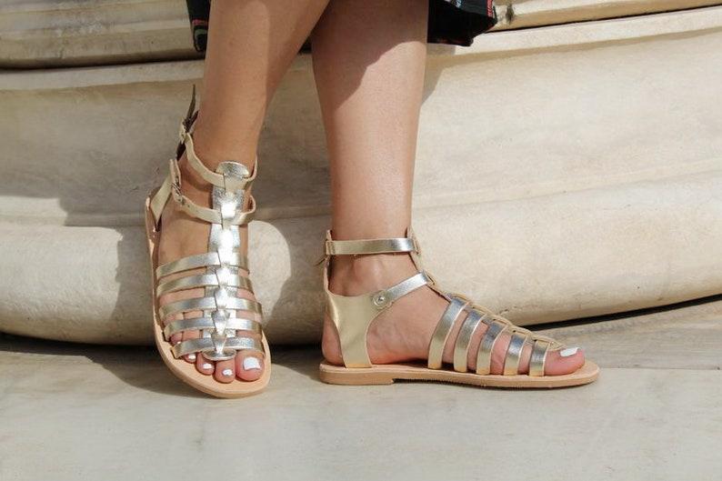 Handmade sandals Gold sandals Gladiator womens sandals Classic Greek leather sandals Ancient grecian sandals Greek sandals for women