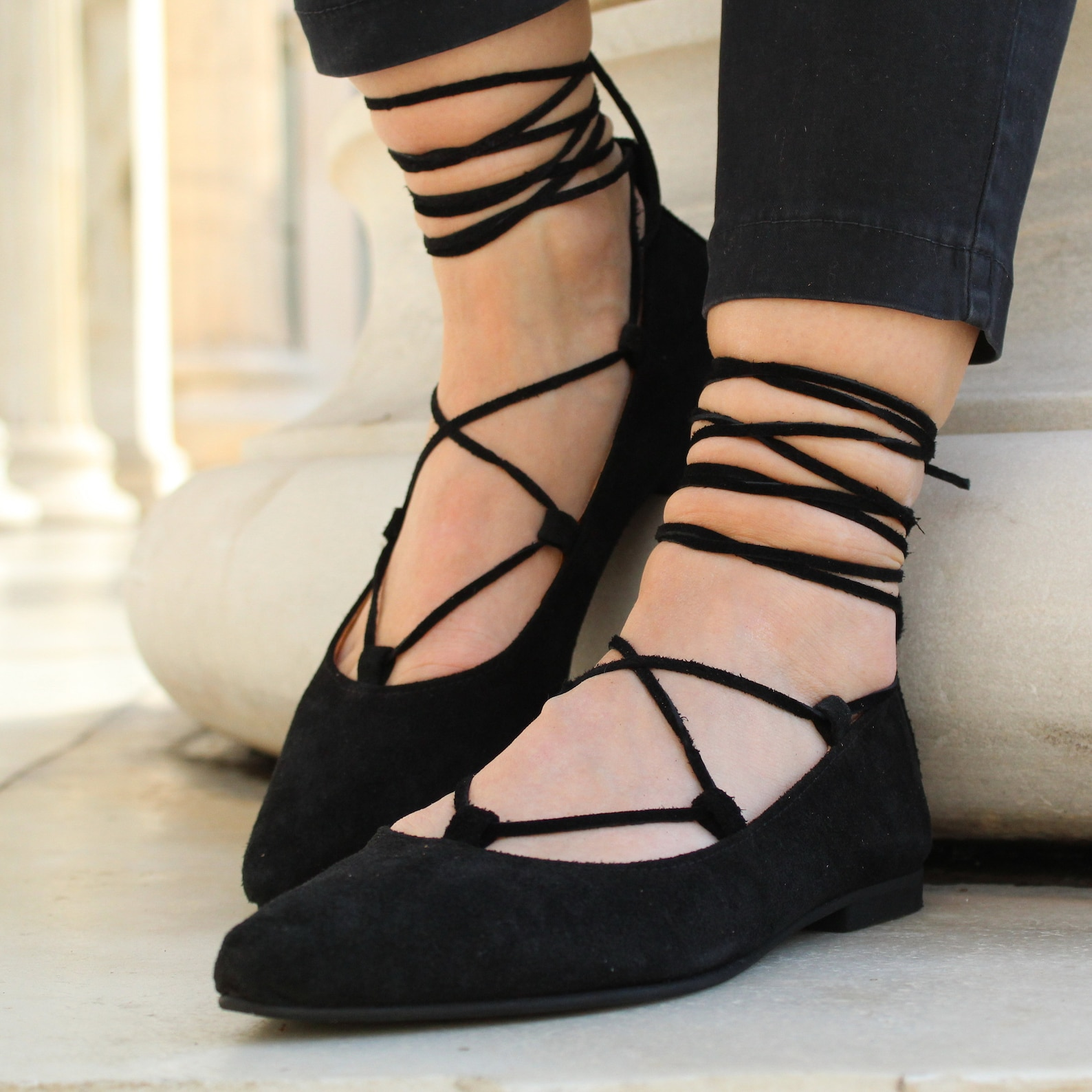 womens flat shoes, shoes, ballet shoes, leather shoes, made in greece, handmade items, greek sandals, gladiotar shoes, leather b