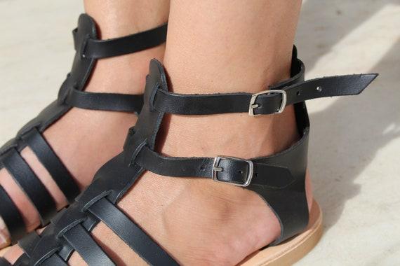leather Ancient sandals Greek sandals women Gladiator Black Handmade Leather sandals sandals sandals Women Greek Black sandals sandals 0z8n0Iqw