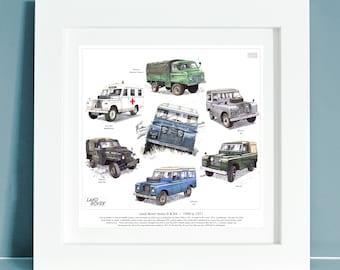 LAND Rover Serie 2 Felpa Girocollo Stampa