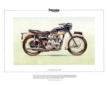 Triumph Thunderbird Motorbike Art Print 650cc 6t Classic Etsy
