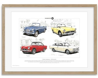 Classic Sunbeam 1950s and 1960s - Print by Golden Era  Rapier Alpine Tiger V8