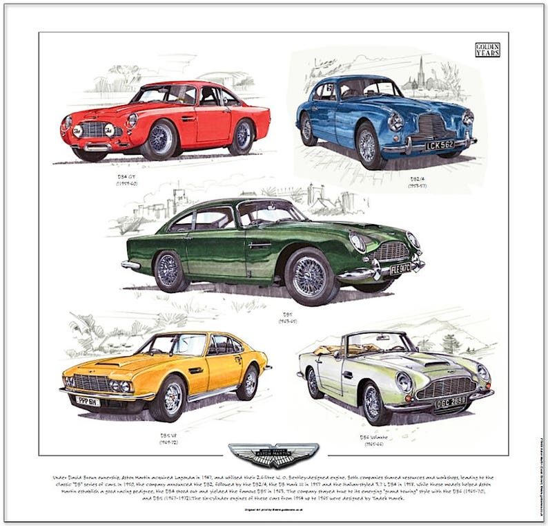 Seven Elan Elite Europa CLASSIC LOTUS 1957-75 Fine Art Print