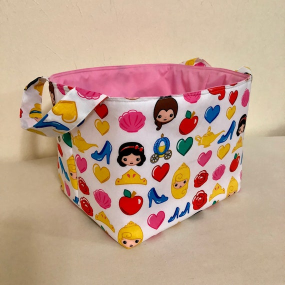 Disney Princess Princess Emojis Fabric Bin Fabric | Etsy