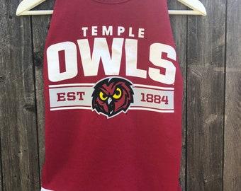 Temple Owls eyelet tank