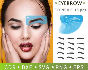 graphic relating to Free Printable Eyebrow Stencils Pdf titled Eyebrow printable Etsy