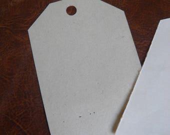 Lot de 12 étiquettes vintage faites main papier vieilli naturellement avec le temps