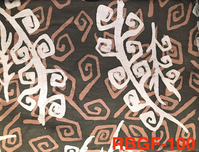 Malaysian Artisan Batik Fabric: Romantik  Geo Fern image 0