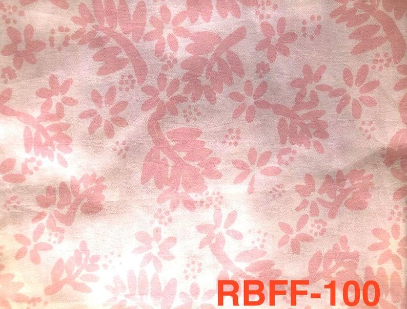 Malaysian Artisan Batik Fabric: Romantik   Flower Fern image 0
