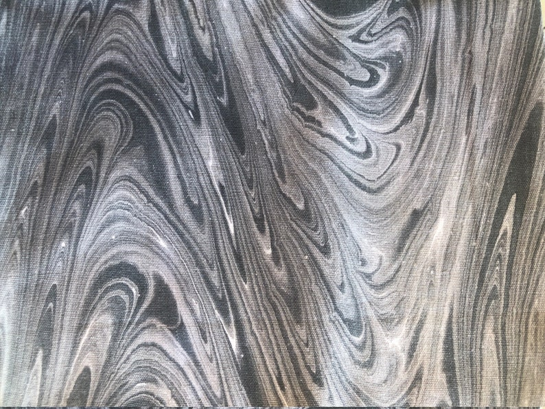 Malaysian Artisan Hand Dyed Fabric  Marble Grey White image 0