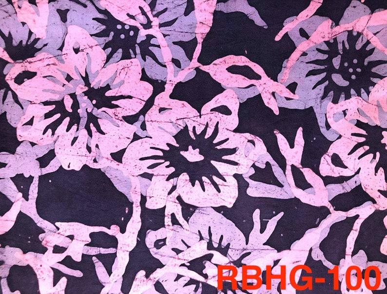 Malaysian Artisan Batik Fabric: Romantik  Hibiscus Garden image 0